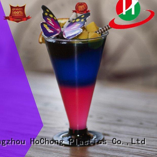 Custom plastic cups glass plastic dessert HoChong