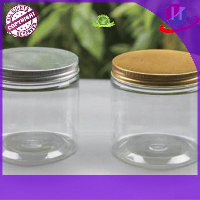 Wholesale gold plastic jars with lids HoChong Brand