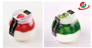 HoChong-Plastic Clear Reusableplastic Container Dessert Cups With Screw Cap