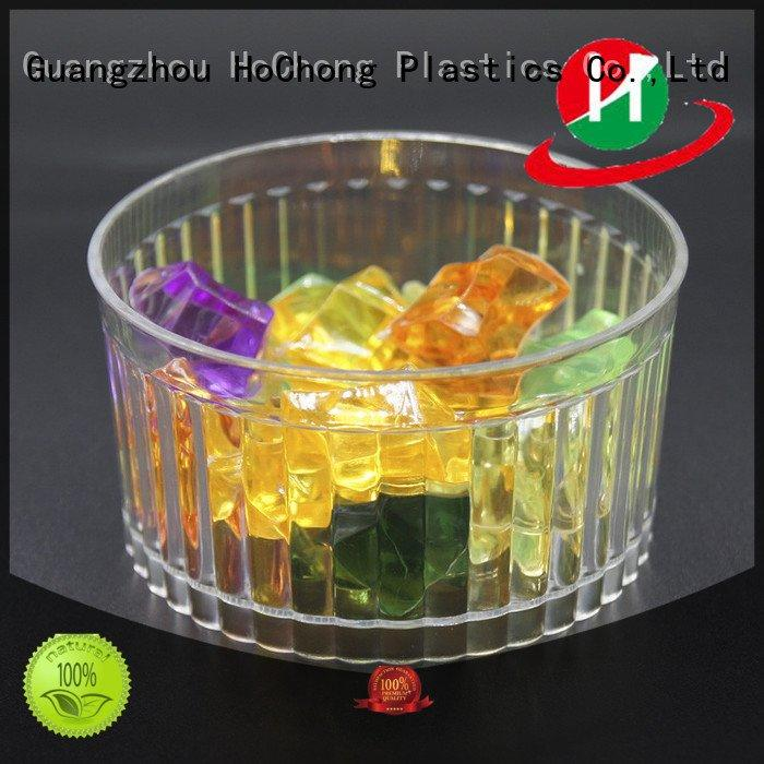 clear plastic dessert cups with lids round plastic dessert cups HoChong Brand