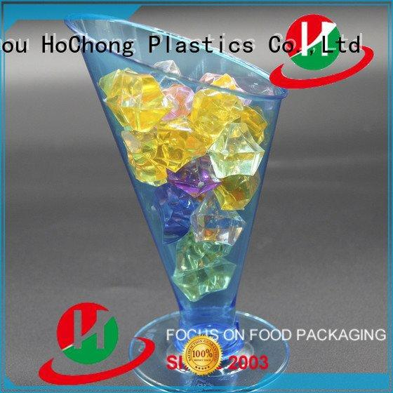 cold drink cups with lids glasses sample OEM plastic drinking cups HoChong