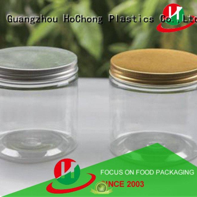 HoChong Brand 9oz round plastic jars with lids multipurpose silver