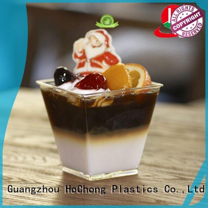 clear plastic dessert cups with lids jars HoChong Brand plastic dessert cups