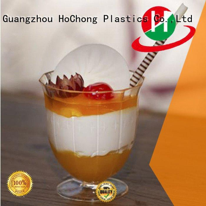 HoChong Brand pack spoonsbpafree bakeries clear plastic dessert cups with lids