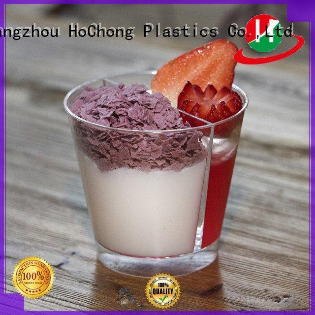 short bakeries clear plastic dessert cups with lids HoChong