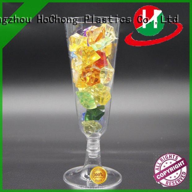 goblet plastic dessert cups HoChong clear plastic dessert cups with lids