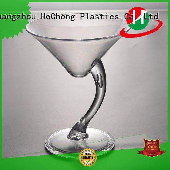 HoChong Brand party screw square clear plastic dessert cups with lids