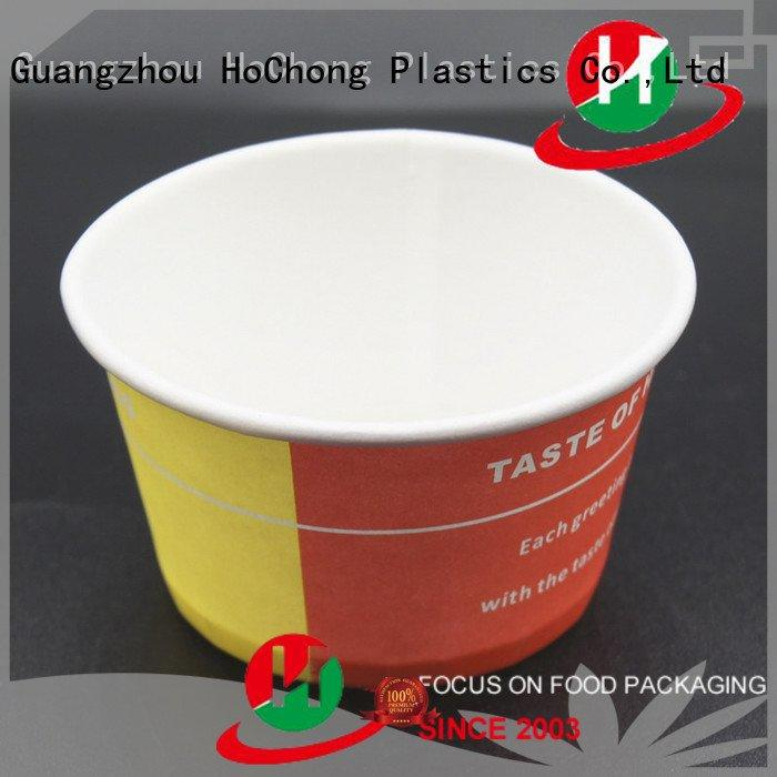Hot paper treat cups 3oz paper ice cream tubs cup HoChong