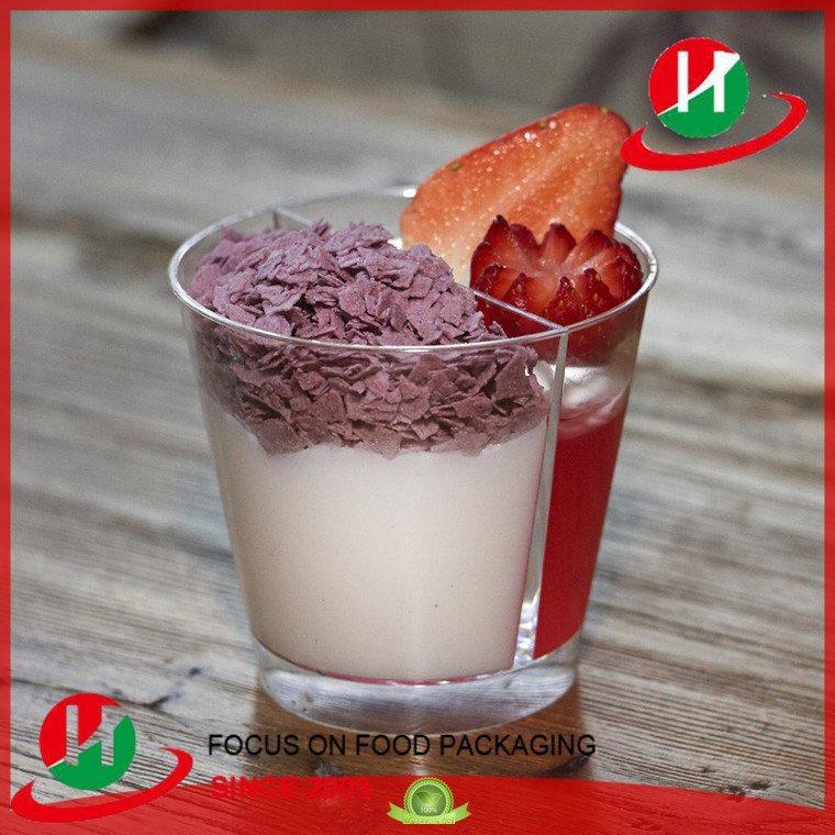 clear plastic dessert cups with lids short 2compartment cap ovensafe Bulk Buy