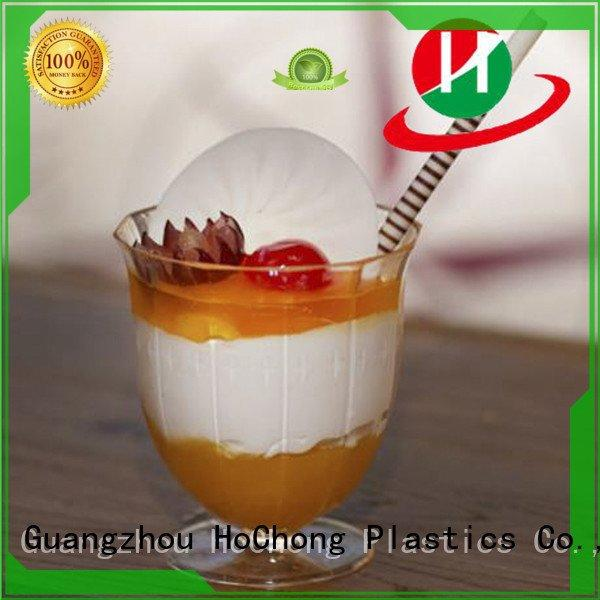 clear plastic dessert cups with lids shooter ovensafe HoChong Brand