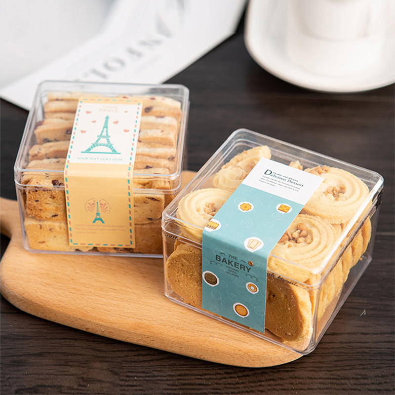 New design biodegradable food box for macaroon and pie biscuit cookie box packaging