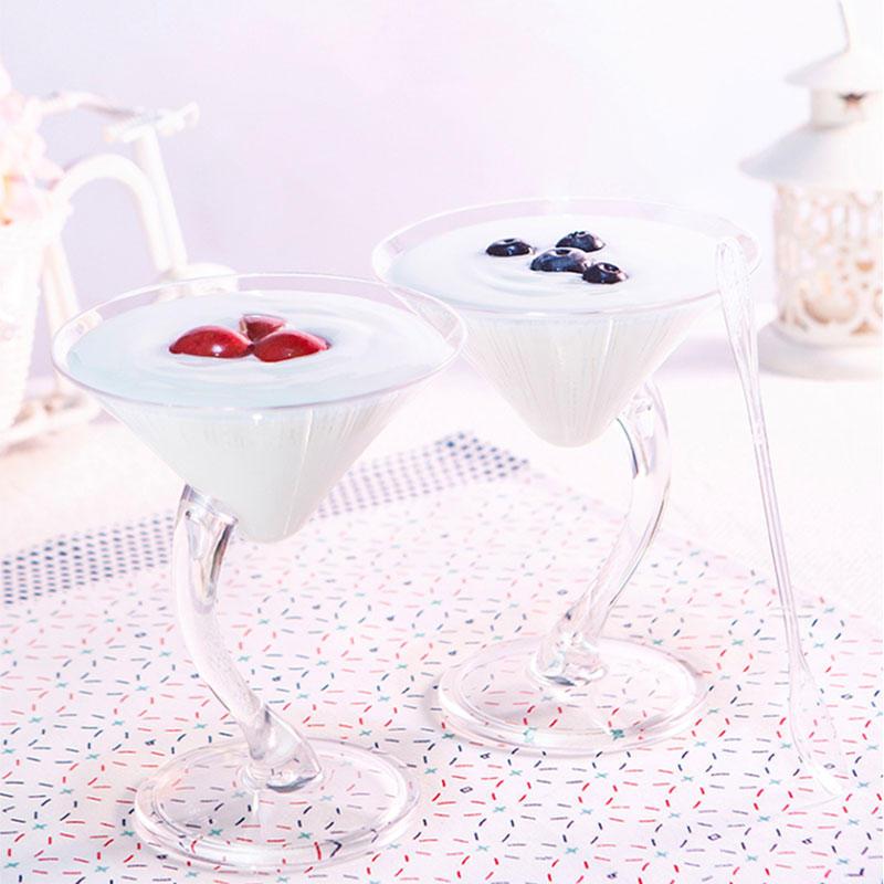 disposable plastic ice cream sundae cups