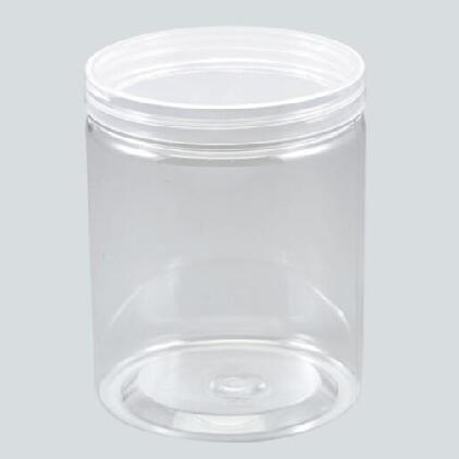Large Caliber Clear PET Plastic Jars Round transparent Pot Wide Mouth Plastic Food Containers with transparent Screw Cap Lid