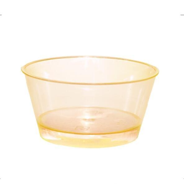 Coloured Clear Plastic Square Mousse Ice Cream Dessert Cup Five Color Choice For Party