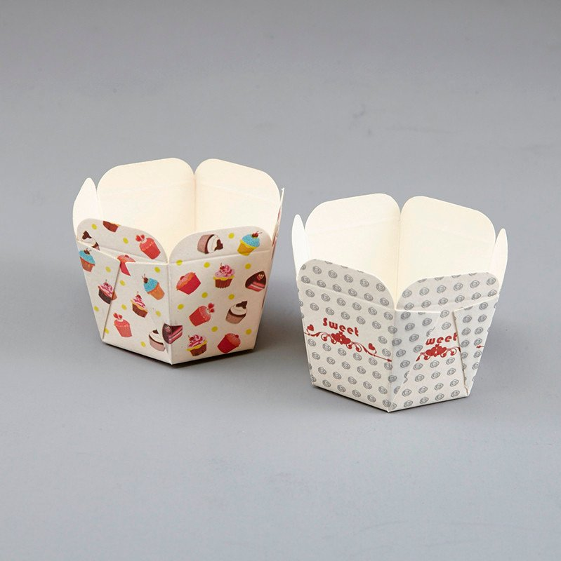 HoChong-Professional Color Square Cupcake Wrapper Paper Cake Case Baking