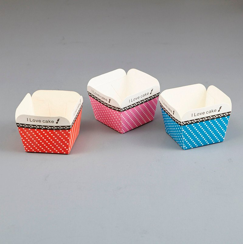 HoChong-Different Color Square Cupcake Wrapper Paper Cake Case Baking Cups Liner