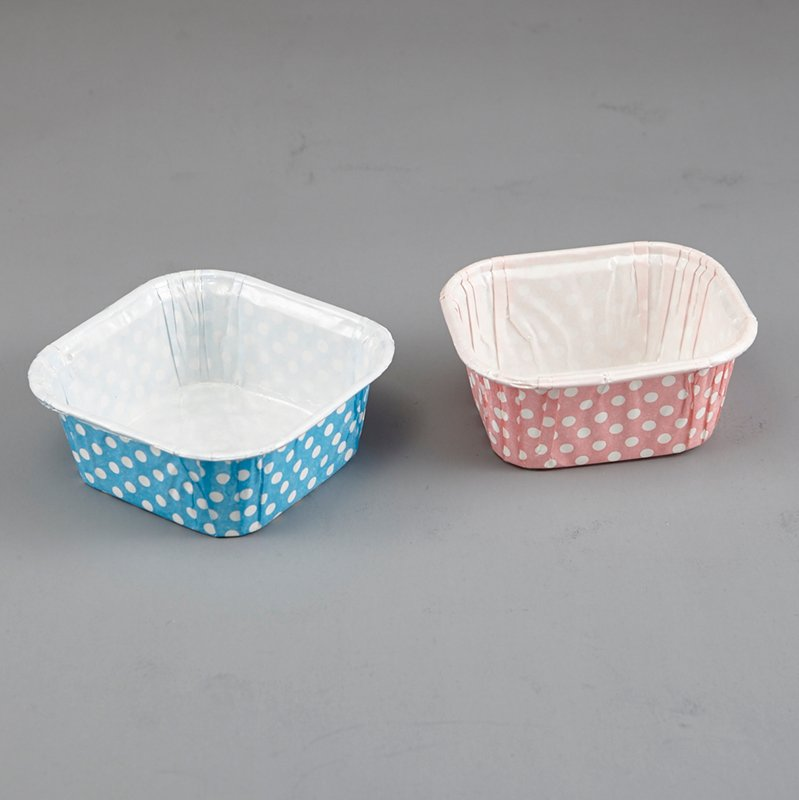 HoChong-Square Paper Material Cupcake Liners Baking Cake Muffin Cup Supplies