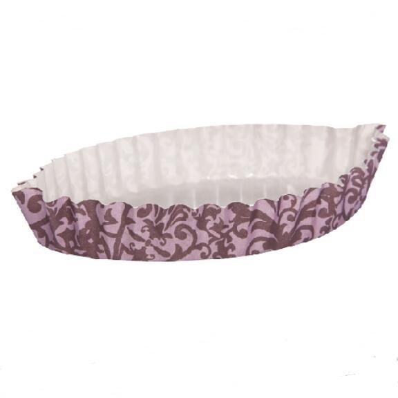 Distinctive Leaf Type Ripple Wall Bread Cake Cup Fit  Home Party PET Film Material