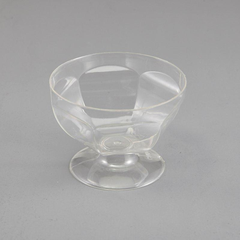 Rhombic Clear Plastic Pet Cups Jello Pudding Ice Cream Yogurt Mousse