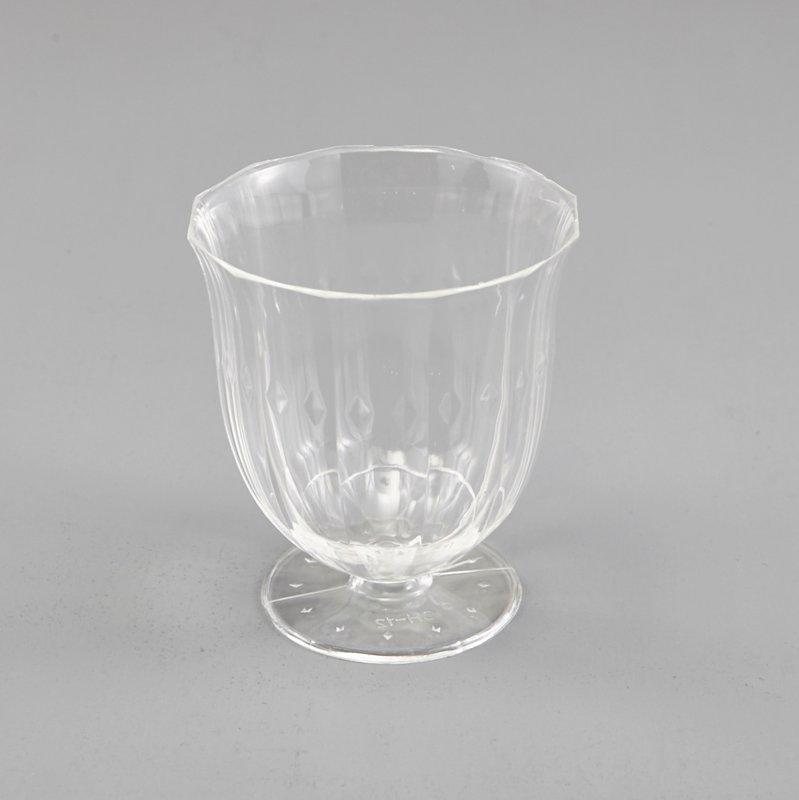 Diamond Exquisite Clear Plastic Mini Square Mousse Dessert Cups