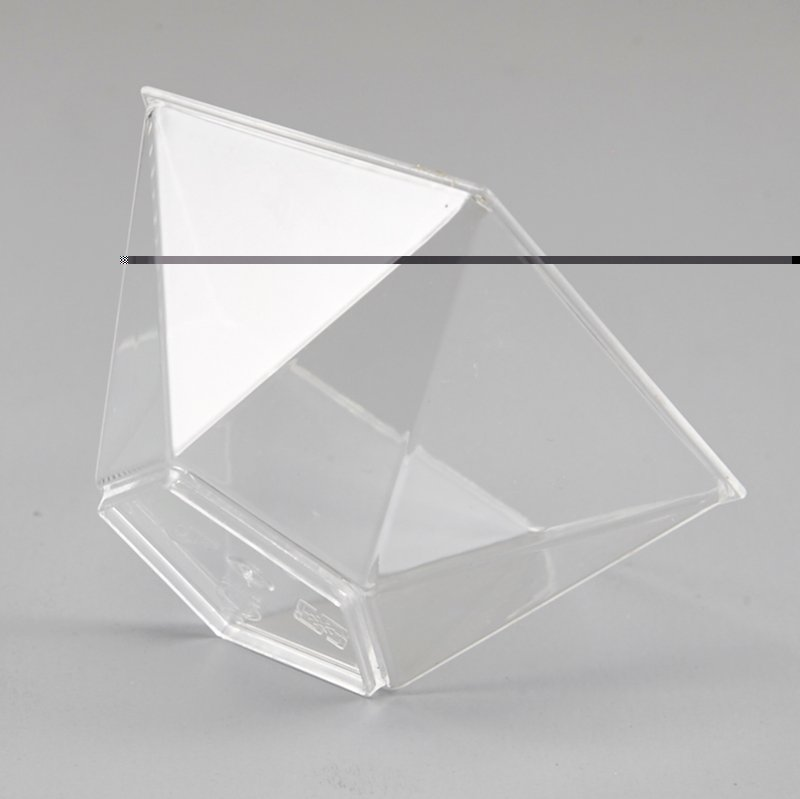 HoChong-Best Pentagram Style Clear Plastic Dessert Cups Mousse Jelly Cup
