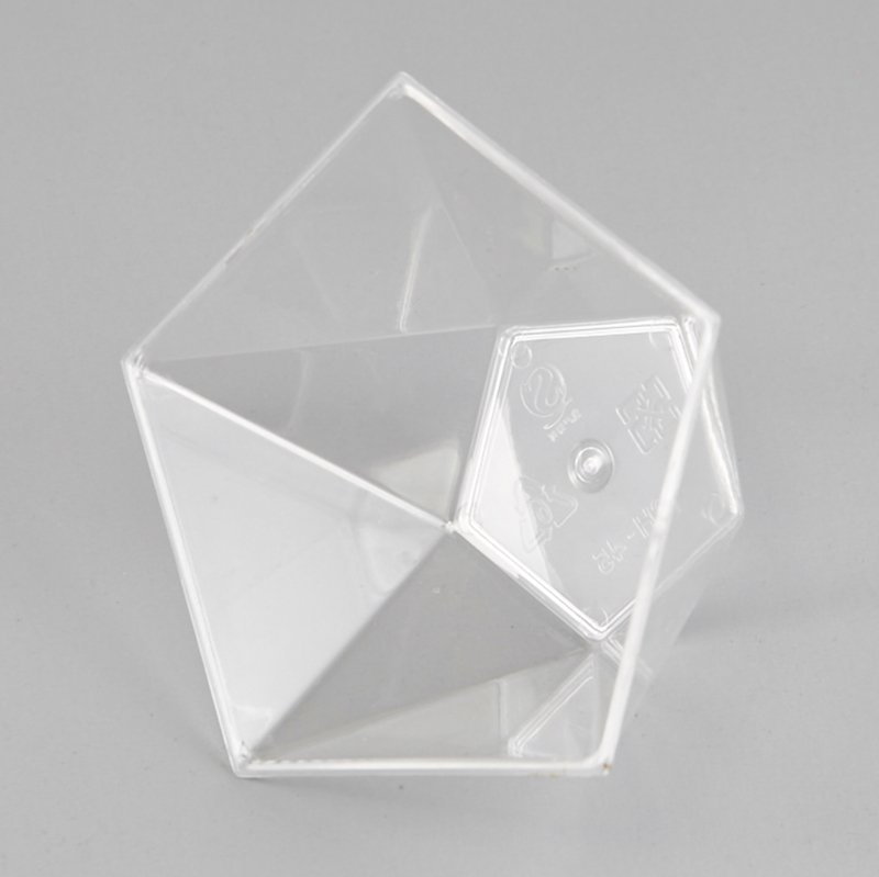 HoChong-Best Pentagram Style Clear Plastic Dessert Cups Mousse Jelly Cup-1