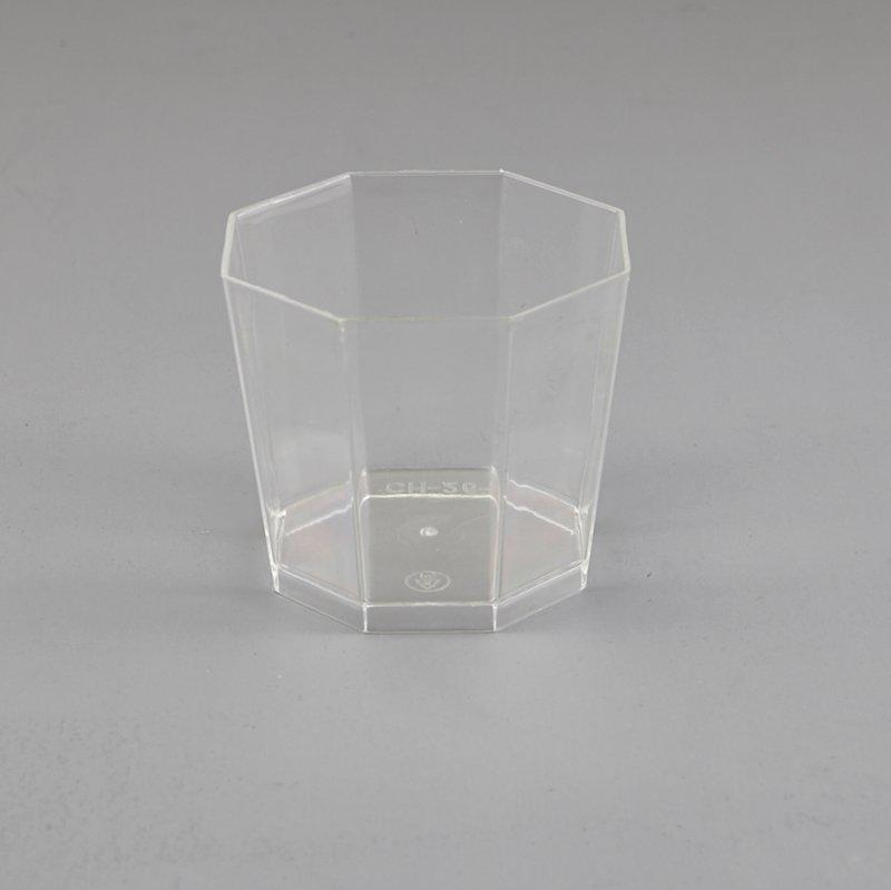 Octagonal Style Clear Plastic Jelly Cup Dessert Cup New