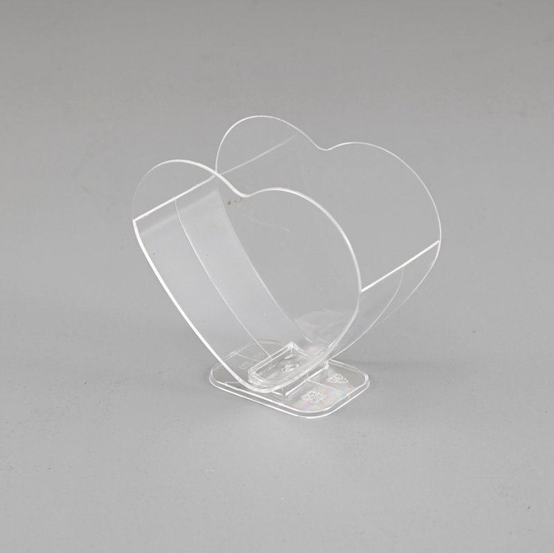 HoChong-Find Double Heart Ice Cream Cup With Clear Stand For Showing Advertisement-1