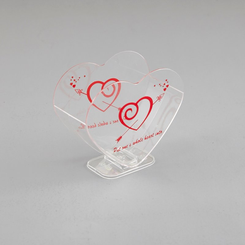 HoChong-Find Double Heart Ice Cream Cup With Clear Stand For Showing Advertisement-2