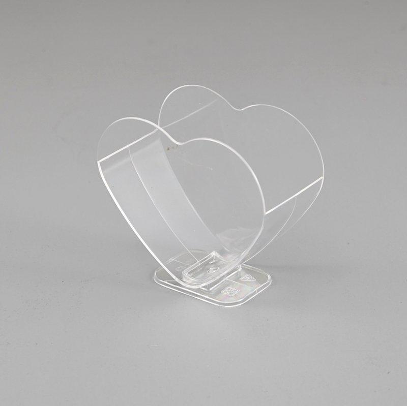 Double Heart Ice Cream Cup With Clear Stand for Showing Advertisement