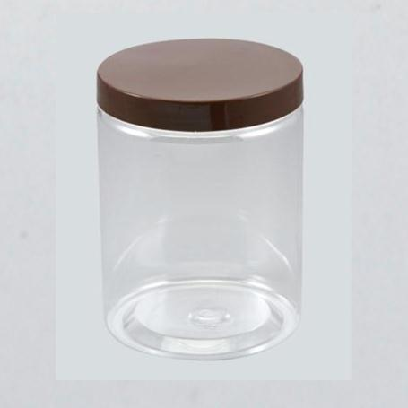 Clear PET Plastic Jars Round transparent Pot Wide Mouth Plastic Food Containers with transparent Screw Cap Lid