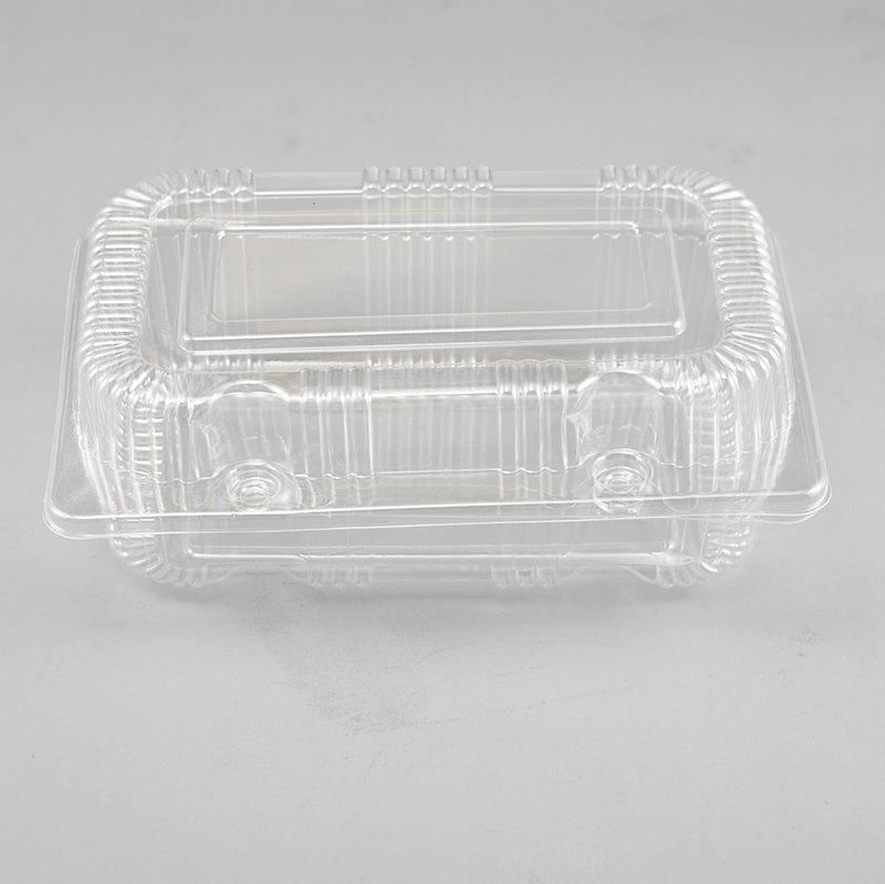 Square Clear Food Grade BOPS Material Mini Cake Take Out Container Box