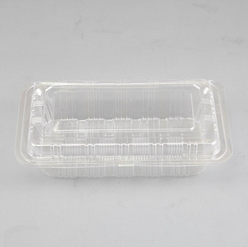 Clear Disposable Sandwich Wedge Plastic Snack Box Wtih Hinged Lid China Supplies