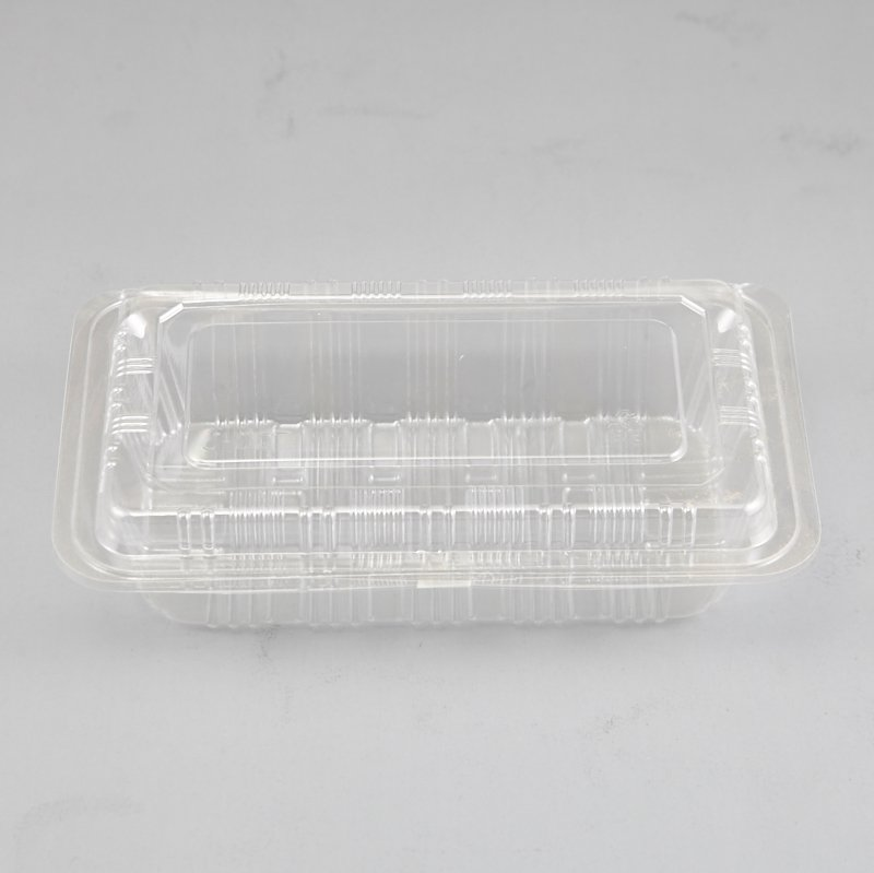 HoChong-High Quality Clear Disposable Sandwich Wedge Plastic Snack Box Wtih Hinged