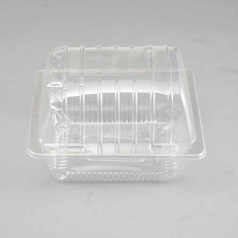 Take Out Muffin Egg Tart Cupcake Container Pod Box Square Clear Plastic Cup