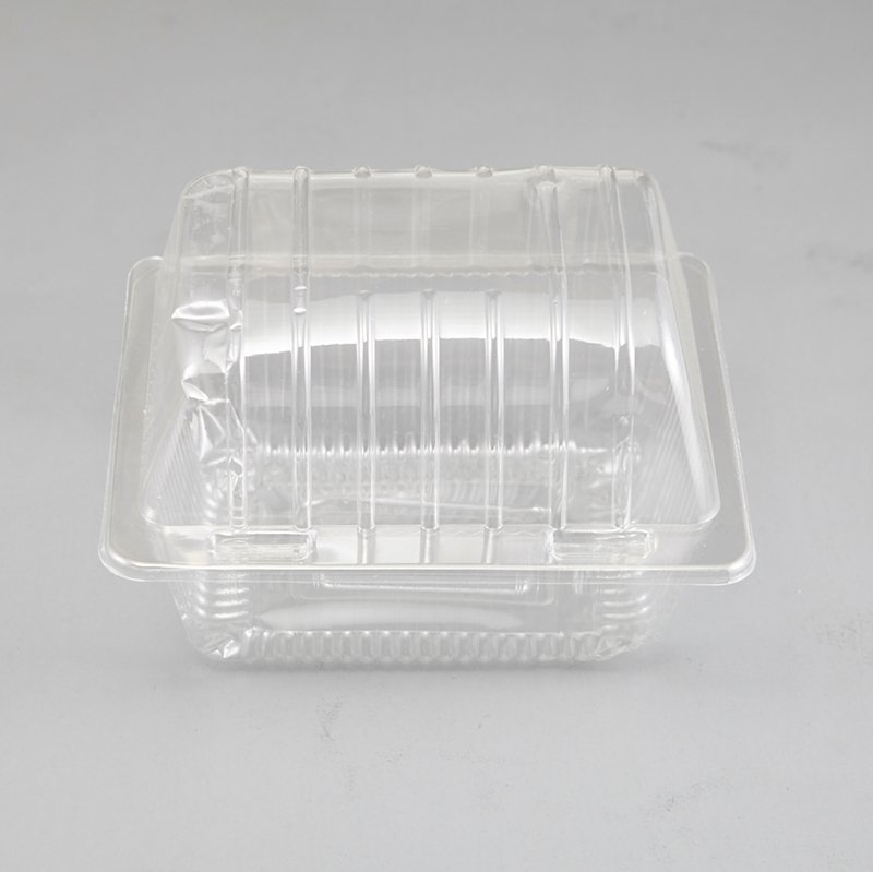 HoChong-Take Out Muffin Egg Tart Cupcake Container Pod Box Square Clear Plastic