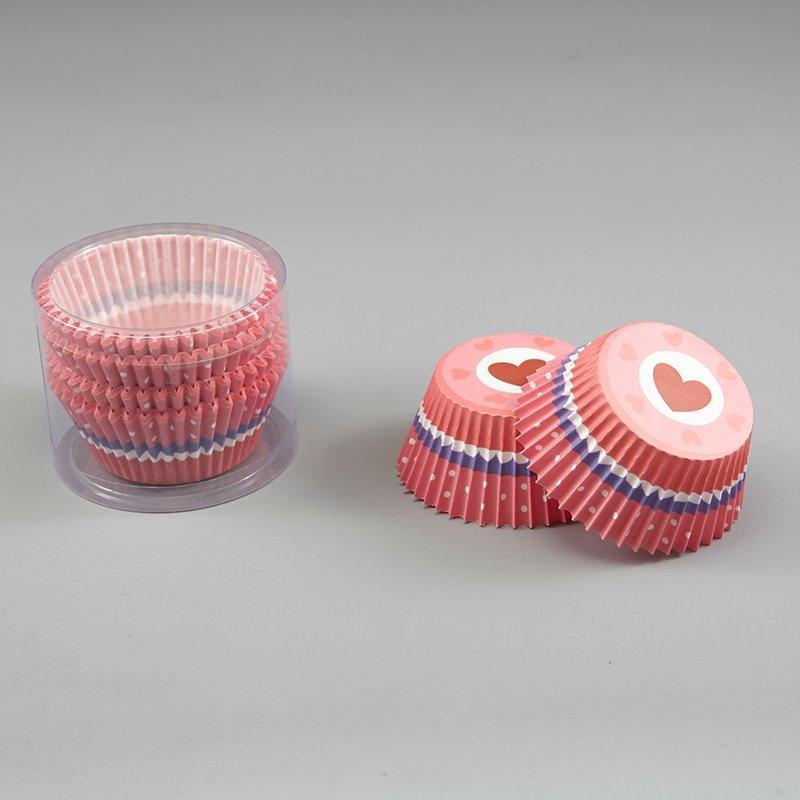 Mini Cupcake Paper Liners Red