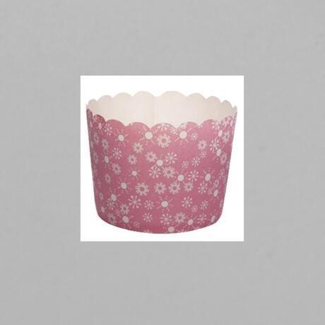 Mini Flower Design PE Film Paper Cupcake CUP With Food Grade Material