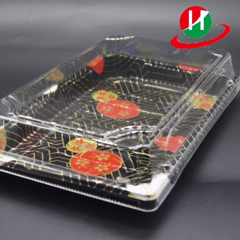 HoChong-Middle Size Premium Restaurant Quality Rectangular Sushi Tray Set With-1