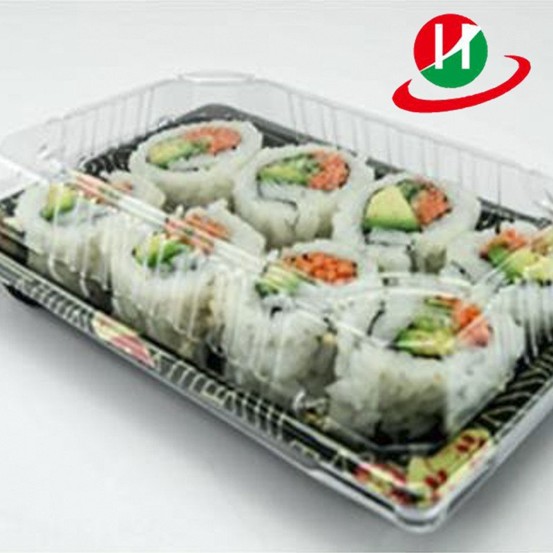 HoChong-Elegant Mini Premium Restaurant Quality Rectangular Sushi Tray Set-1