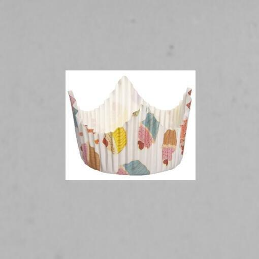 Colorful Crown Type Decorations Custom Cupcake Muffin Cup Food Grade PET Material
