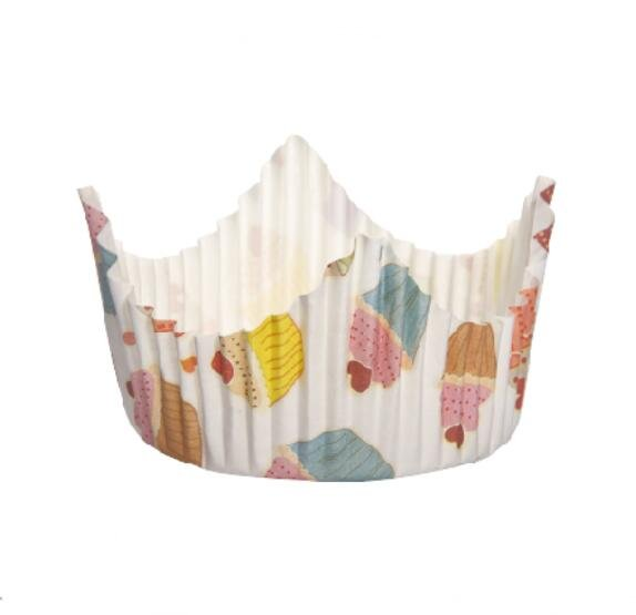 HoChong-High Quality Colorful Crown Type Decorations Custom Cupcake Muffin Cup