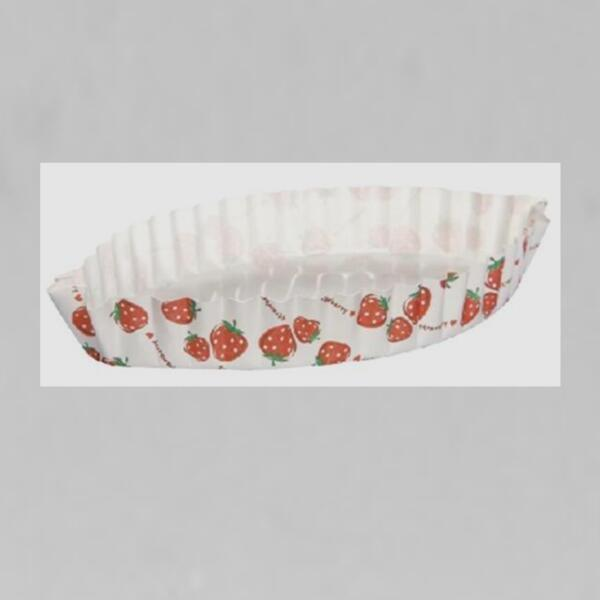 Strawberry Flowers Distinctive Leaf Type Ripple Wall Bread Cake Cup Fit Home Party