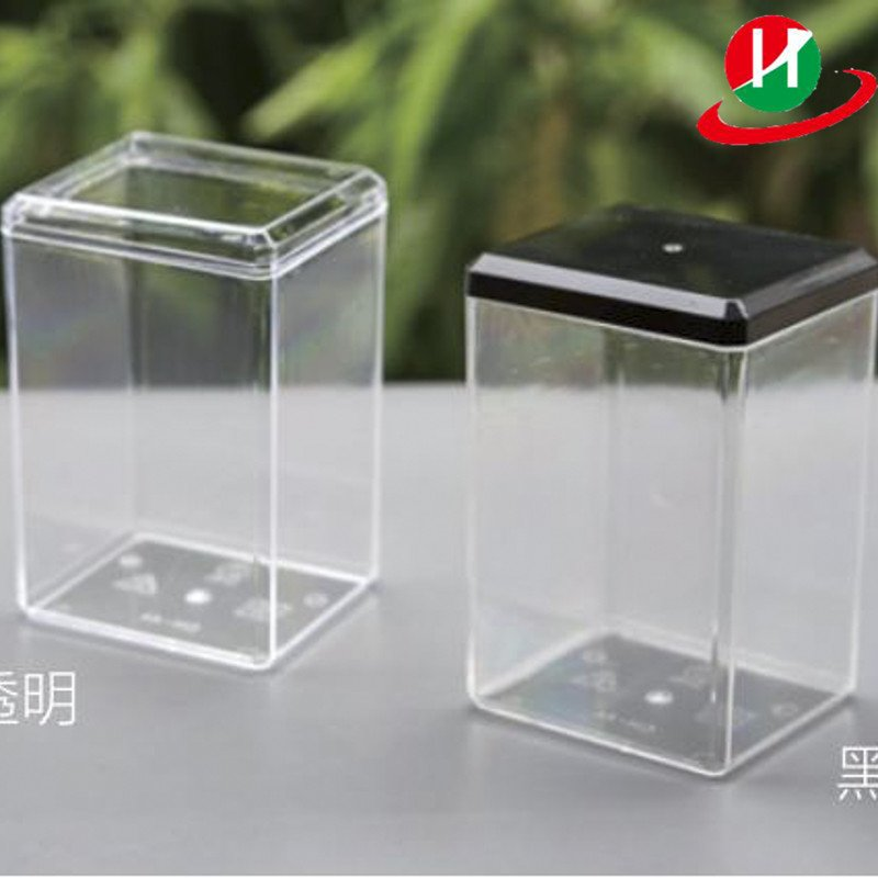 HoChong-High Quality Clear Square Lightweight Ps Containers Cookie Spice Jar