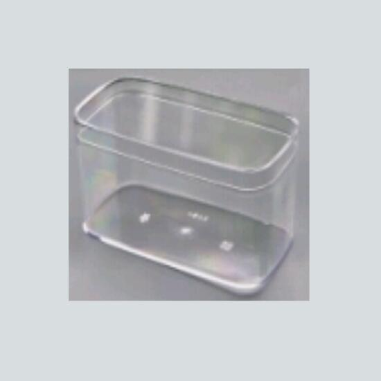 PS Plastic Jars transparent Pot  Food Containers with Clear Lid