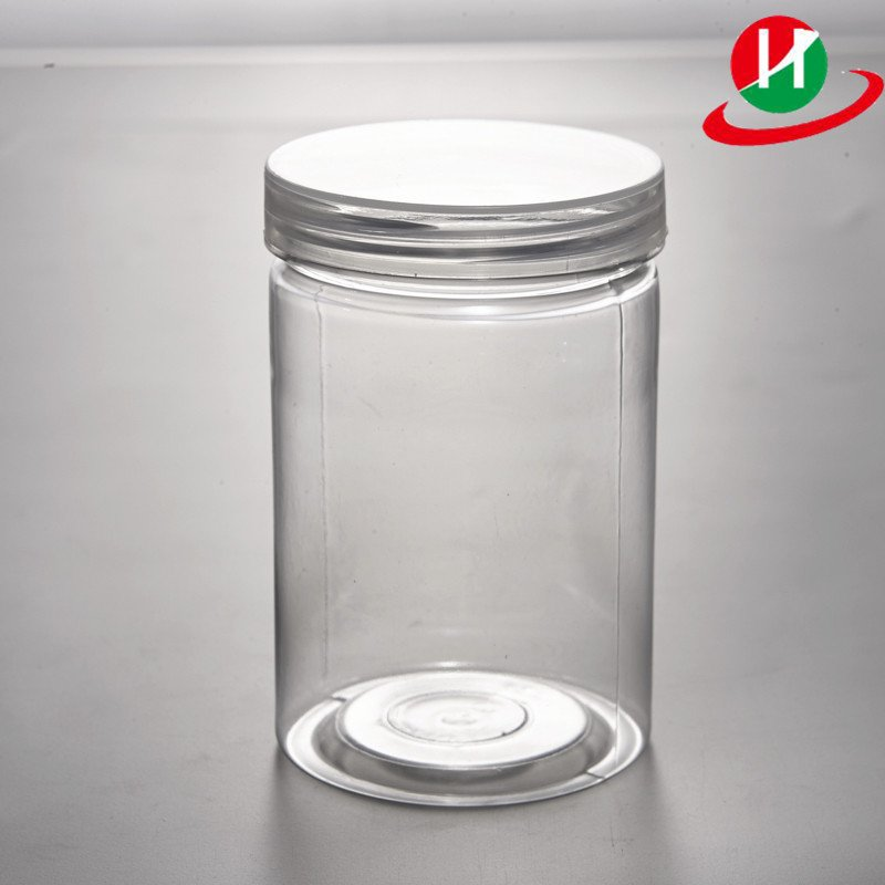 HoChong-Find Pet Plastic Jars Round Transparent Pot Food Containers With Clear