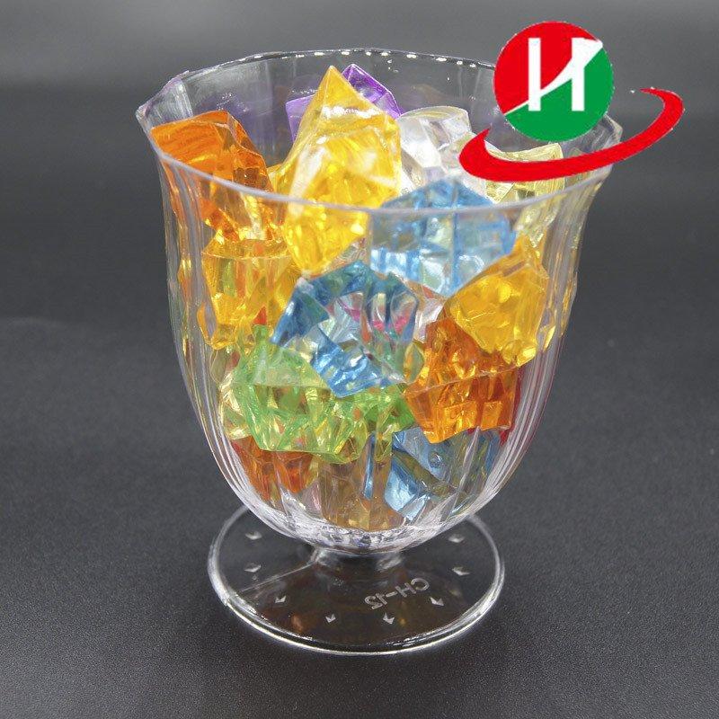 HoChong-Find 2 Oz Clear Hard Plastic Mini Dessert Cups Short Stem Wine Glasses-2