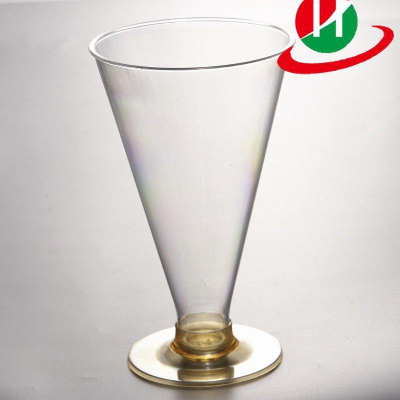 HoChong-Plastic Clear Disposable Reusable Wine Goblet Cocktail Dessert Cups-1