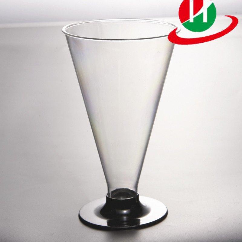 HoChong-Plastic Clear Disposable Reusable Wine Goblet Cocktail Dessert Cups-2