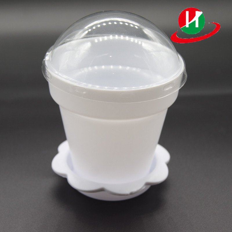 HoChong-High Quality White Color Flower Pot Shape Diy Baking Plastic Dessert Jelly-1